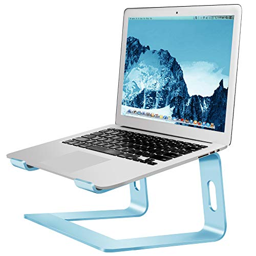 Soundance Laptop Stand, Aluminum Computer Riser, Ergonomic Laptops Elevator for Desk, Metal Holder Compatible with 10 to 15.6 Inches Notebook Computer, Aquamarine