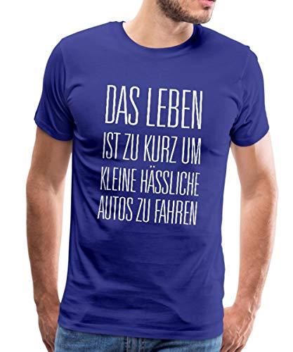 Leben zu Kurz für Kleine Autos Männer Premium T-Shirt, L, Königsblau