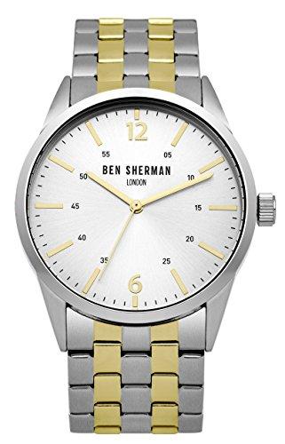Ben Sherman Hombres Reloj De Cuarzo con Esfera Analógica y Plata Pulsera de Acero Inoxidable en Dos Tonos wb060gsm