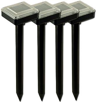 Deuba 4 x Chasse Taupe Solaire - Simple et Efficace - Son et Vibration