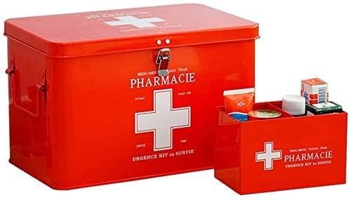 NMBD Heimzubehör Haushalt Medizin-Schrank mit Schloss, Extra Large Kindern Medizintechnik Storage Box