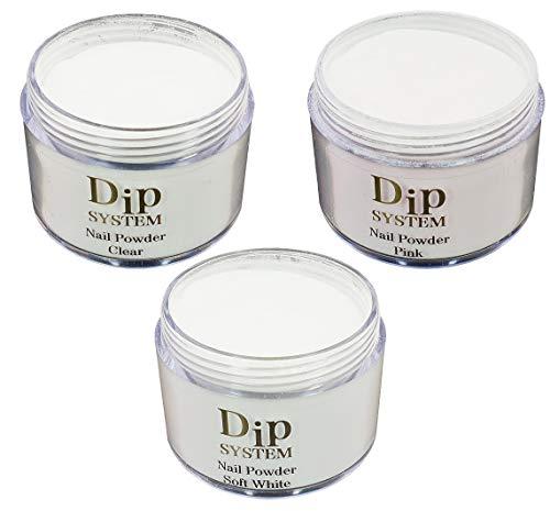 30g Dip System Powder, Dipping System Puder, Dip-Puder für Fingernägel. Einfache Anwendung. Farbe wählen: (Clear)