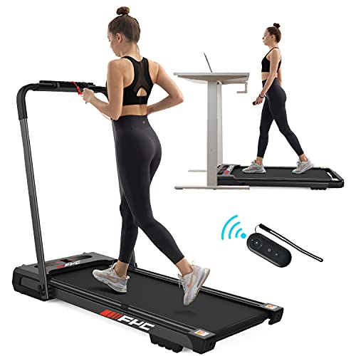 FYC 2 in 1 Under Desk Treadmill - 2.5 HP Folding Treadmill for Home, Installation-Free Foldable Treadmill Compact Electric Running Machine, with LED Display Walking Running Jogging for Home Office Use