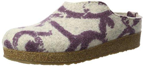 Haflinger Haflinger Unisex-Erwachsene Grizzly Onda Hausschuhe, Violett (Veilchen), 42 EU