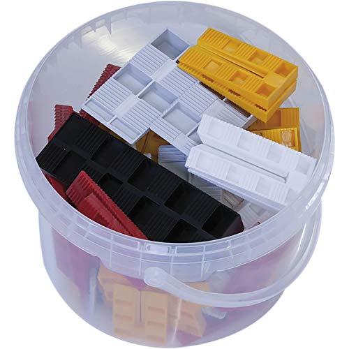 GV Montagekeile Kunststoff Set; 61 Stück Unterlegkeile; Justierkeile in 5 verschiedene Größen