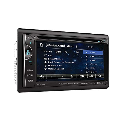 "POWER ACOUSTIK PH-620SXMB 6.2"" Touchscreen AM/FM/DVD/USB/BT with SXV300V1 Tuner"