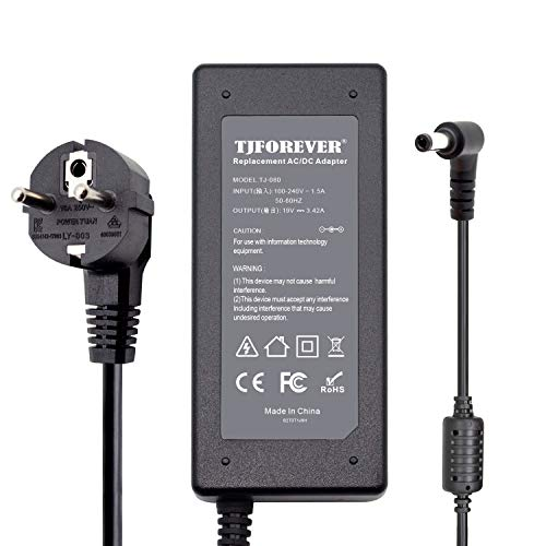 Cargador Portatil ASUS 19V 3.42A 65W para ASUS N17908 V85 A53s X555l X550C K52F K53 K55 Notebook Ordenador portátil Fuente de Alimentación Adaptador Conector: 5.5 * 2.5mm