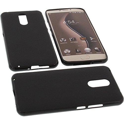 foto-kontor Tasche für Ulefone Gemini Gummi TPU Schutz Handytasche schwarz