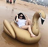 Svvsgf Nadadores de Aire, PVC Inflable Cisne Dorado Inflable Cisne piña Donut Fila Flotante Juguete