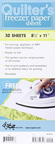Quilter's Freezer Paper Sheets: 30 Sheets, 8 1/2