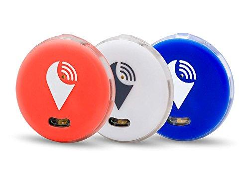 Trackr - Rastreador Bluetooth Pixel Pack 3 Unidades Rojo/Blanco/Azul - Accesorios de...