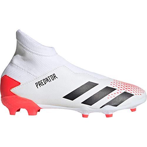 adidas Performance Predator 20.3 LL FG - Botas de fútbol para niño, blanco y coral, 5 UK - 38 EU - 5.5 US