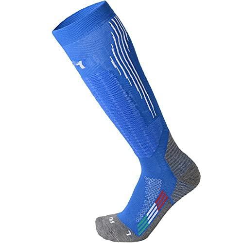 Chaussettes Ski Moyen Poids - Bleu, 39/41