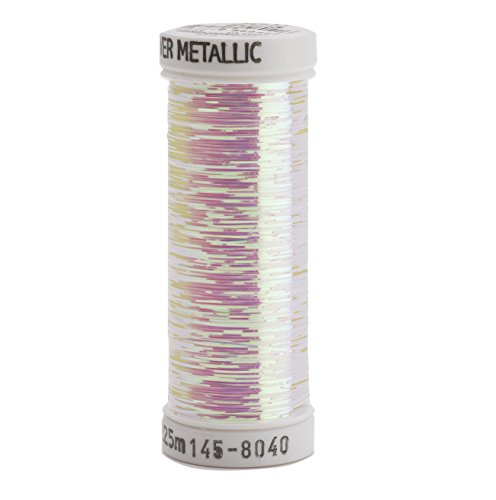 Sulky Of America 215d 40wt Sliver Metallic Nylon/Polyester Thread, 250 yd, Opal
