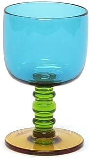 marimekko SUKAT MAKKARALLA STEMWARE 300ml 063943 760 turquoise/green/yellow カラー ワイングラス 脚付グラス [並行輸入品]