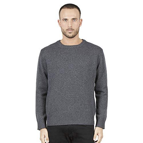 Pullovers heren trui met ronde hals in 100% Australian wol kleur grijze
