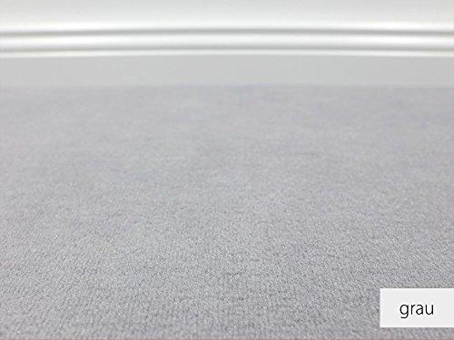 HEVO Die Vorwerk Bijou Kollektion - Bijou Uni Teppichboden in 16 Farben Mustermaterial - Inkl. 2% Bestellgutschein - Grau