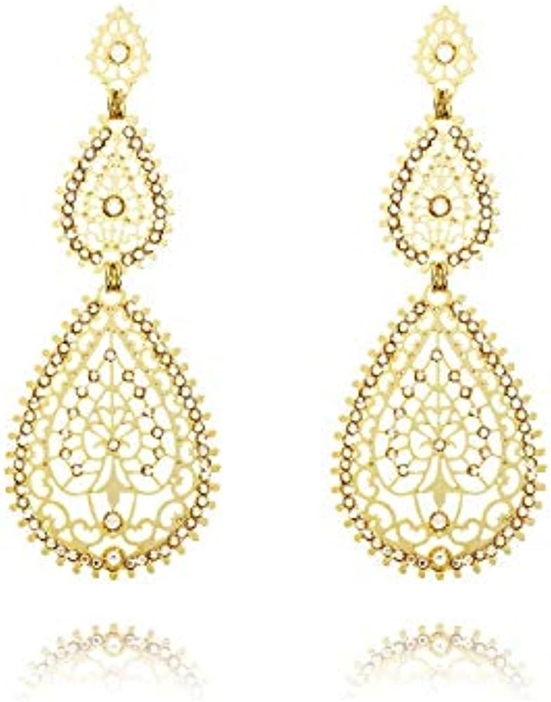 Stroili orecchini pendenti in ottone dorato 1509593