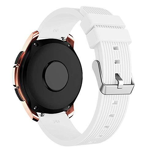 Pulseira Clássica 20mm compatível com Galaxy Watch 42mm - Galaxy Watch Active - Galaxy Watch 3 41mm - Amazfit Bip - Marca LTIMPORTS (Branco)