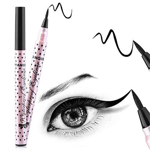 KHKJ Ultimate 1 Pcs Black Long Lasting Eye Liner Pencil Waterproof Eyeliner Smudge-Proof Cosmetic...