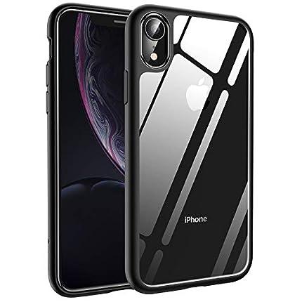 Syncwire Funda iPhone XR - UltraRock Funda Protectora para iPhone XR con Protección Avanzada Ante Caídas y Tecnología de Cámara de Aire Protectora para Apple iPhone XR (2018) - Negro Mate
