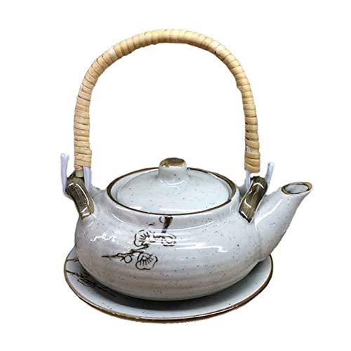BLANCHO BEDDING Exquisito Destacado Multiusos Estilo Japonés Porcelana Tetera Sopa Olla 4#