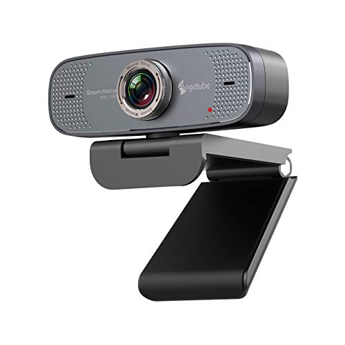 1080P USB Webcam with Mic PC Camera for Video Calling & Recording Video Conference/Online Teaching/Business Meeting Compatible with Computer Desktop Laptop MacBook for Windows Android iOS