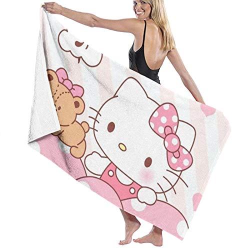 Custom made Hello Kitty - Toallas de baño de microfibra (70 x 140 cm)