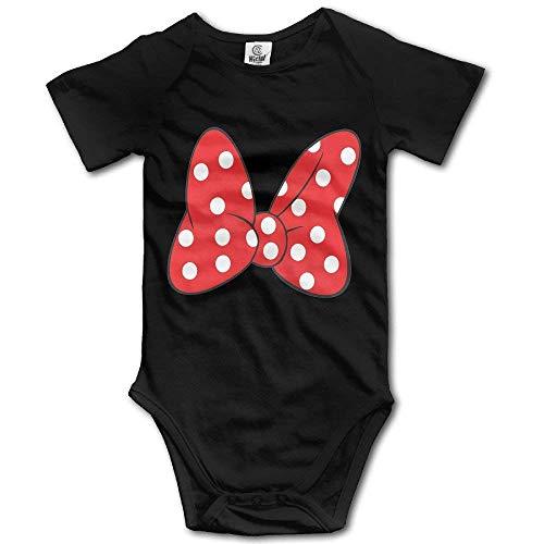 SDGSS Combinaison Bébé Bodysuits Unisex Baby One-Piece Suit Personalized Minnie Bow Red Short-Sleeve Bodysuit 100% Cotton Boys Girls 0-24 Months