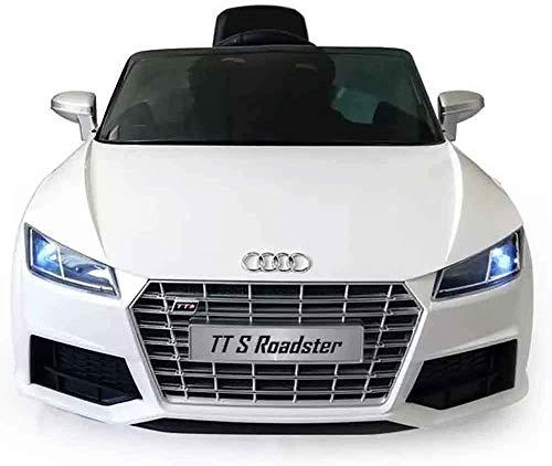 TOYSCAR electronic way to drive Auto Macchina Elettrica per Bambini 12V Roadster Sedile Pelle con Telecomando Bianca