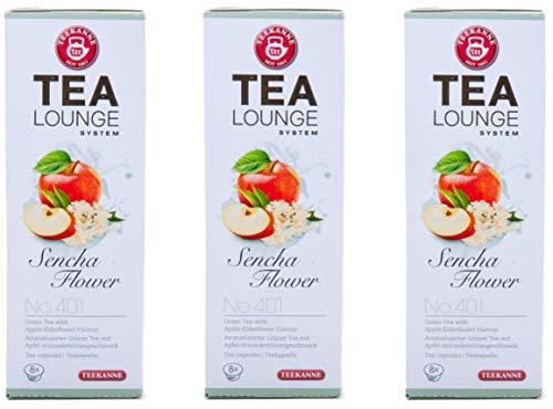 Teekanne Tealounge Kapseln - Sencha Flower No. 401 Grüner Tee (3x8 Kapseln)