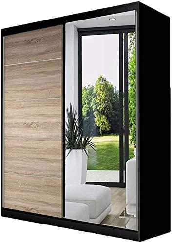 Modo moderno elegante con armadio a porta scorrevole a specchio armadietto armadio/porta scorrevole Guida in alluminio Scaffale e coda,A