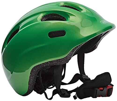 ABUS Smiley 2.0 Kinderhelm - Robuster Fahrradhelm für Mädchen und Jungs - 72578 - Grün (funkelnd), Größe S