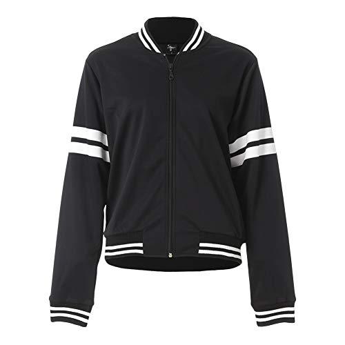 Move U Varsity Bomber Track Jacket for Women Black