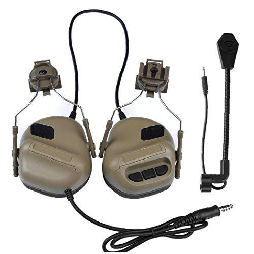 La Quinta Generación Ejército Tácticos Que Tiran De Auriculares Auriculares del Casco Militar Aire Arma De Paintball Headset CS Guerra Juego De Auriculares