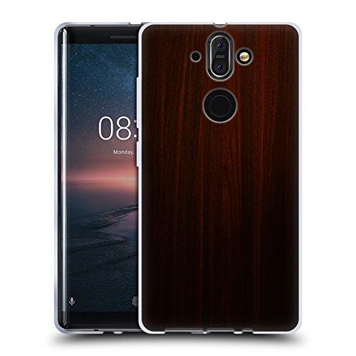 Head Case Designs Ufficiale Nicklas Gustafsson Legno Scuro Textures Cover Morbida in Gel per Nokia 8 Sirocco