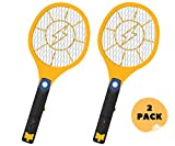 Smash Bugs Electric Bug Zapper Racket – USB Rechargeable –Fly Swatter Zap Mosquito - Indoor and Outdoor - Pest Control - Fly Killer - Super Bright LED Light (2 Pack)