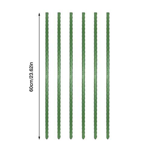 MANGGUO Tuyau de Support de Plante 4 pièces Tuyau de Treillis de Plante en Plastique ondulé de Haute qualité piquets de Jardin assemblés bâton de Soutien de Plante d'escalade