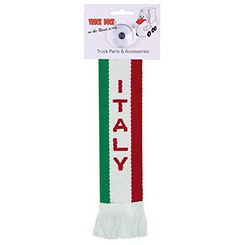 AutoScheich® LKW Auto Minischal Italy Italien Mini Schal Wimpel Flagge Saugnapf Spiegel Deko