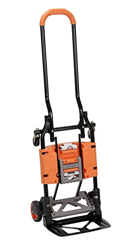 Cosco 12222BGO1E Shifter Multi-Position Heavy Duty Folding Hand Truck and Dolly, Orange