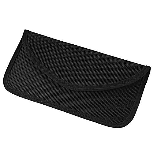 Waflyer RFID Strahlenschutz Tasche for Handy, Keyless Go Schutz Autoschlüssel Faraday Tasche Signal Blocker Case Abschirmhülle für iPhone 12/12 Pro/11/XS Max/XR/X/7 Plus/8/7 Telefon bis zu 6,5''