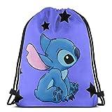 Etryrt Mochila de Cuerda Bolsas de Gimnasia Stitch with Stars Gym Backpack Shoulder Bags Sport Storage Bag for Man Women