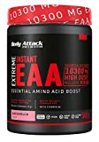 Body Attack Extreme Instant EAA Powder - 500g, extremadamente sabroso, instantáneamente soluble, vegano, 8 aminoácidos esenciales altamente dosificados - 10300mg EAA por batido, Sandía