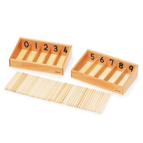 【MONTE Kids】モンテッソーリ教具 -- 45本の棒と箱(S) -- Montessori 知育玩具教具 幼児早期教育 モン...
