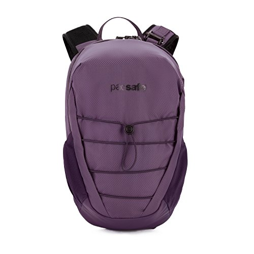 Pacsafe Venturesafe X12 Backpack, Anti-Diebstahl Rucksack, Diebstahlschutz Wanderrucksack 12 Liter, Lila/Plum