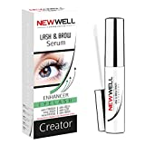 New Well Eyelash & Eyebrow Enhancer Serum (6ML), Rapid Growth for Stronger, Longer