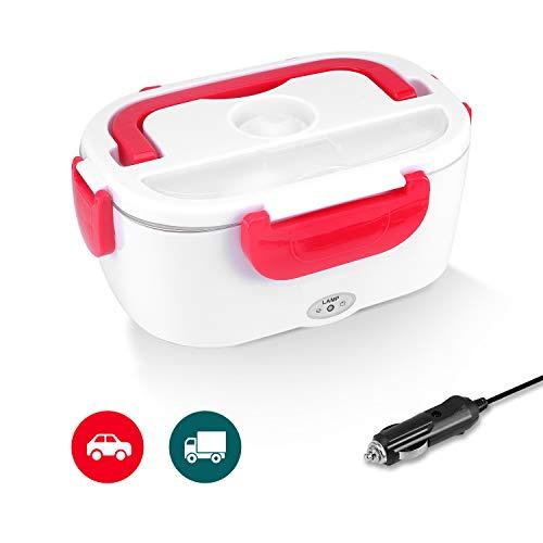 Boîte Chauffante 12V Lunch Box Chauffante Électrique Boîte Alimentaires Boîte Repas en Acier Inoxydable pour Voiture - 2 en 1 conception