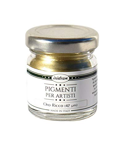 Pigmento Metallico Irimetal di elevata brillantezza alluminio, oro ricco, rame! (Oro Ricco 25ml)