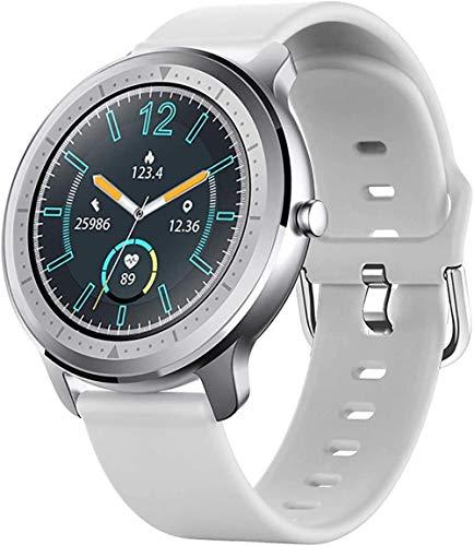 Smart Watch Fitness Tracker reloj y IP67 impermeable Bluetooth reloj inteligente Actividad Tracker pulsera inteligente - blanco