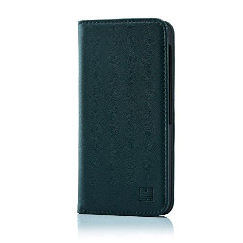 32nd Klassische Series - Lederhülle Case Cover für BlackBerry DTEK60, Echtleder Hülle Entwurf gemacht Mit Kartensteckplatz, Magnetisch & Standfuß - Jägergrün